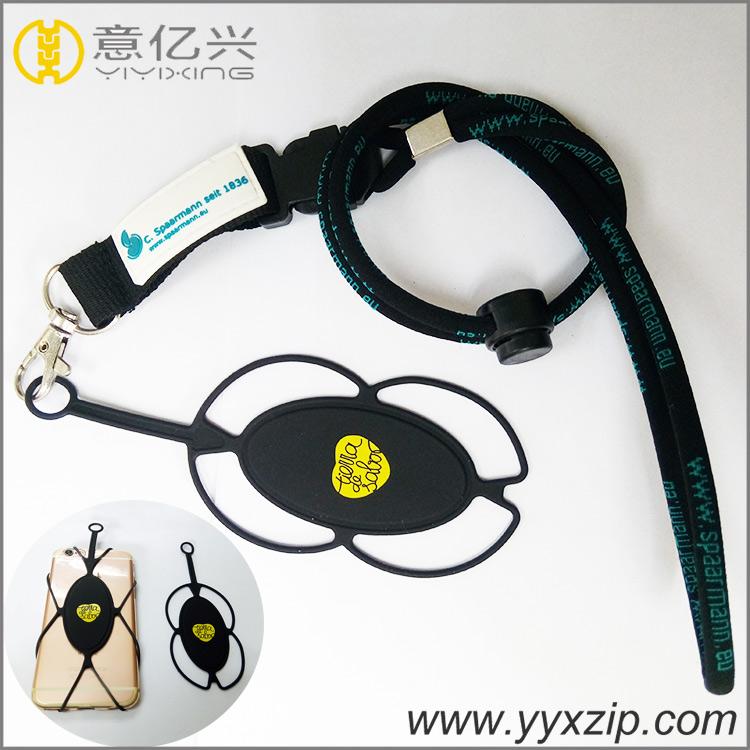 2018 high quantity custom 3d pvc logo label printed neck strap lanyard for teena