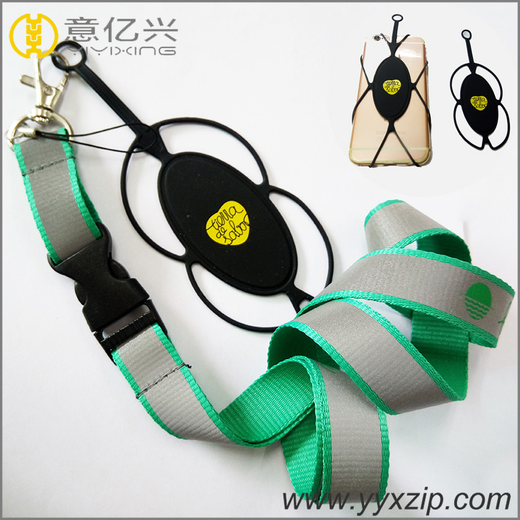 High Quality Sliver Double Layer Mobile Phone Case 3m Reflective Lanyards