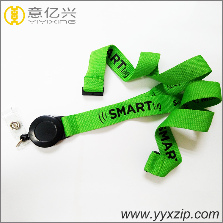 Exhibition silk screen printed polyester lanyard good quality lanyard with custo