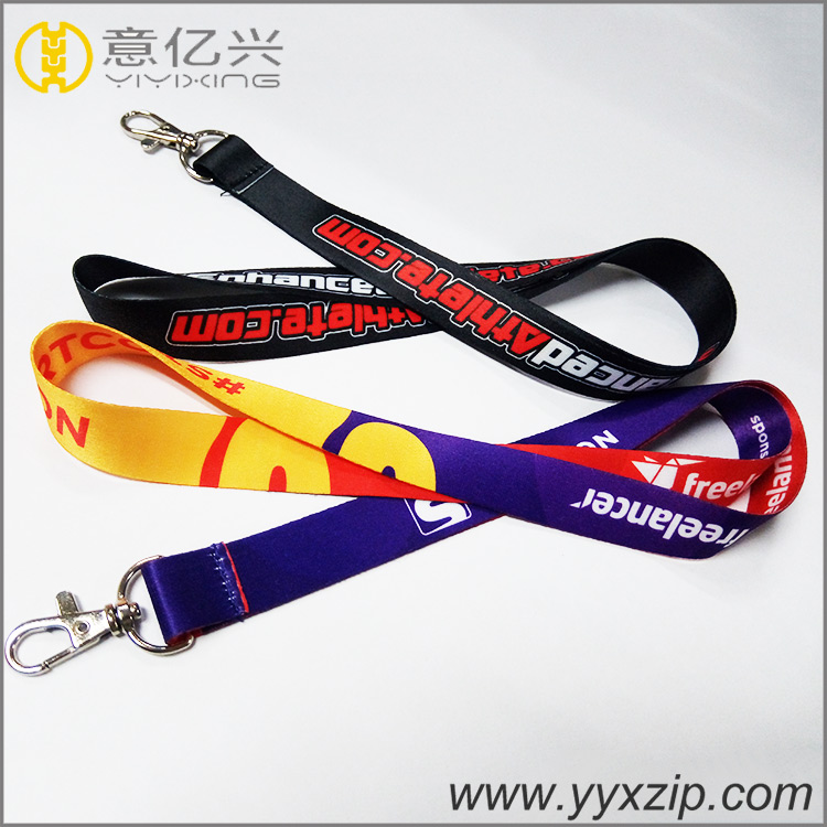 Custom dye sublimated event logo smooth color neck strap lanyard