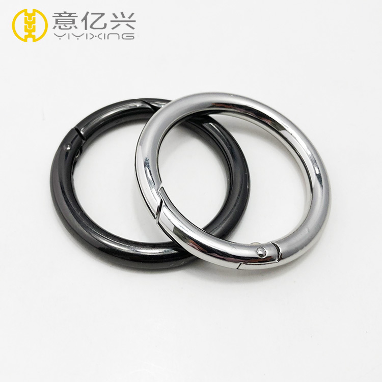 Popular custom design fashion spring bag accessory metal key o ring