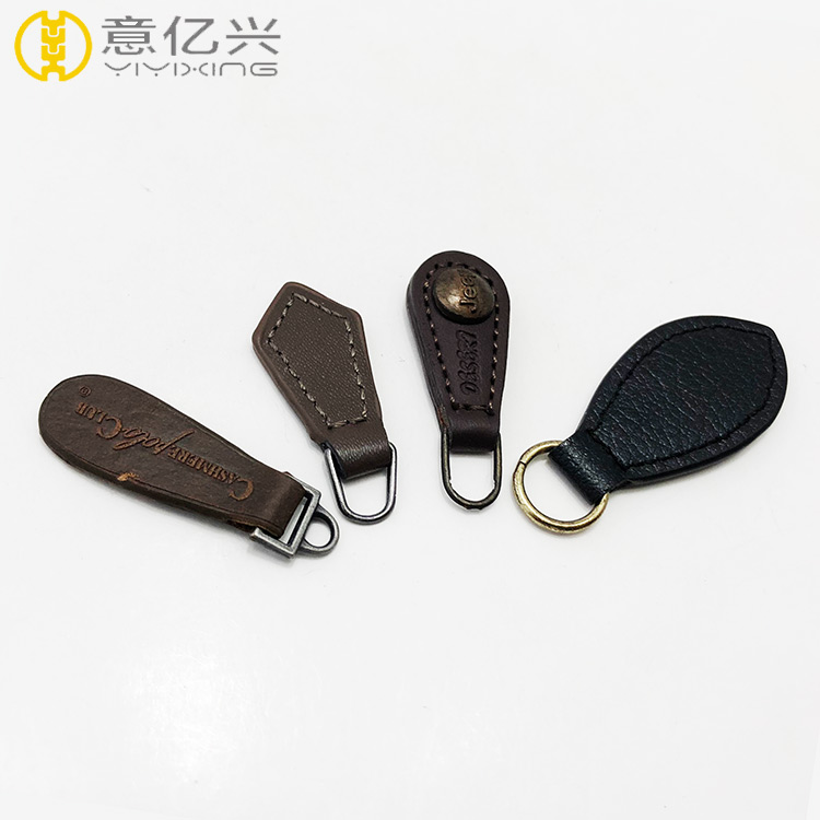 Thread Sewing Brown PU Leather Zipper Puller for Leather Bag