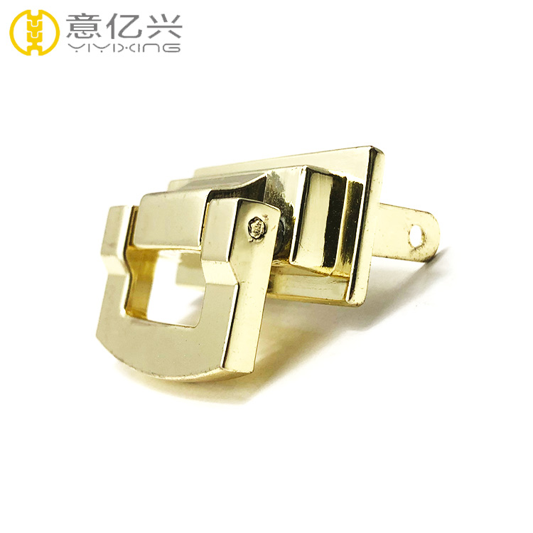 high end handbag turn lock or purse lock bag hardware accessories