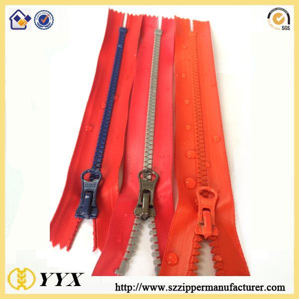 TPU Coating Waterproof Plastic Zipper Pvc Film Waterproof Zipper