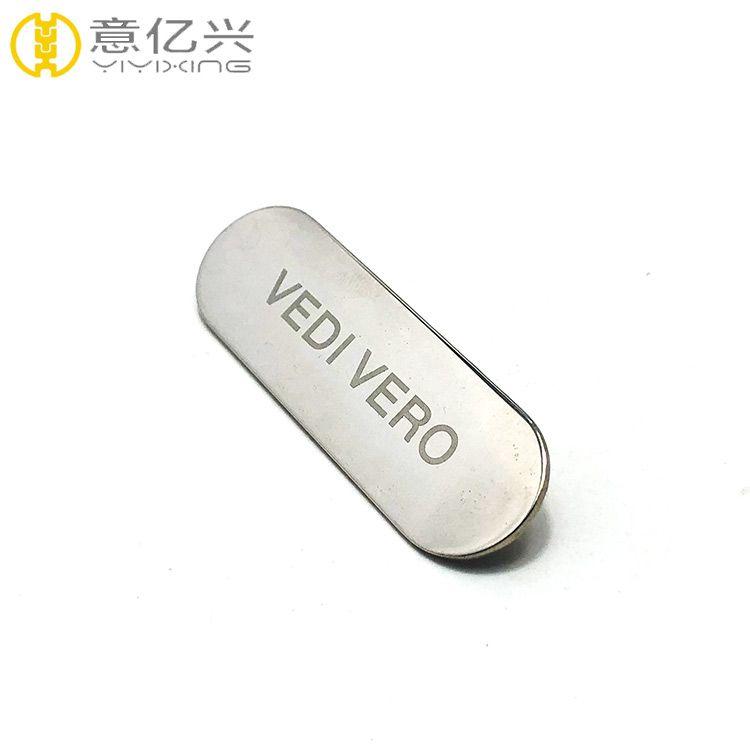 brand logo metal tag customized metal logo badge