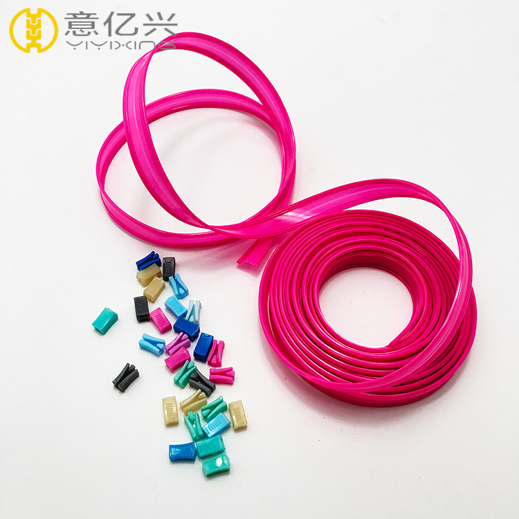 Custom Cheap Waterproof PVC Dark Pink Zipper for Luggage Accessories