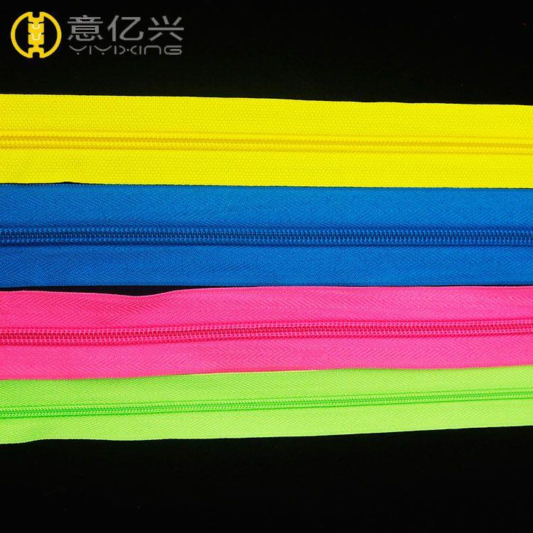 Colorful Teeth Nylon Zippers Long Chain Nylon Zipper Rolls 5#