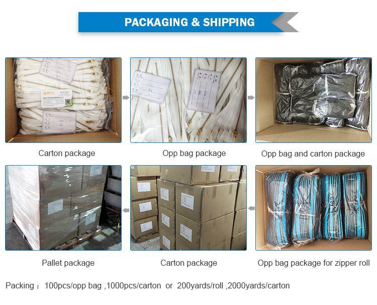 zipper packing