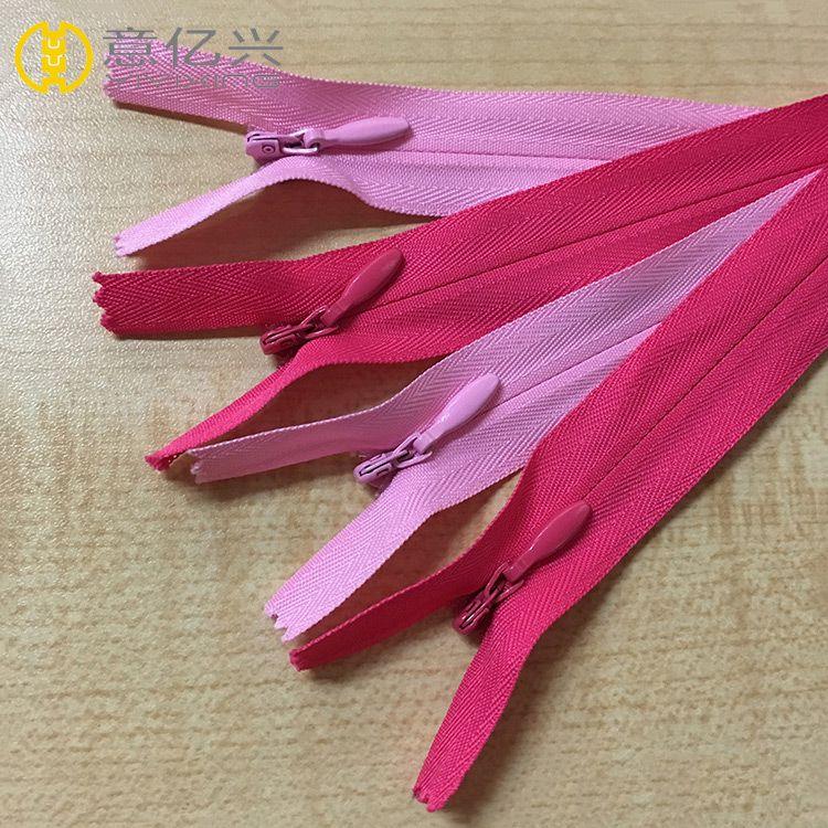 Cheap close end #3 lace invisible nylon zipper