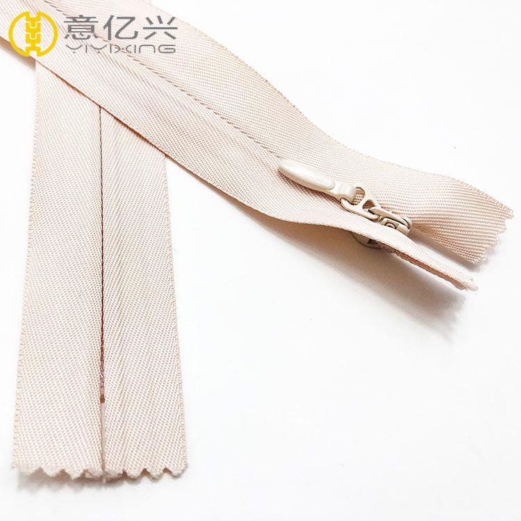 Free sample invisible zipper for clothing closed women garment zip