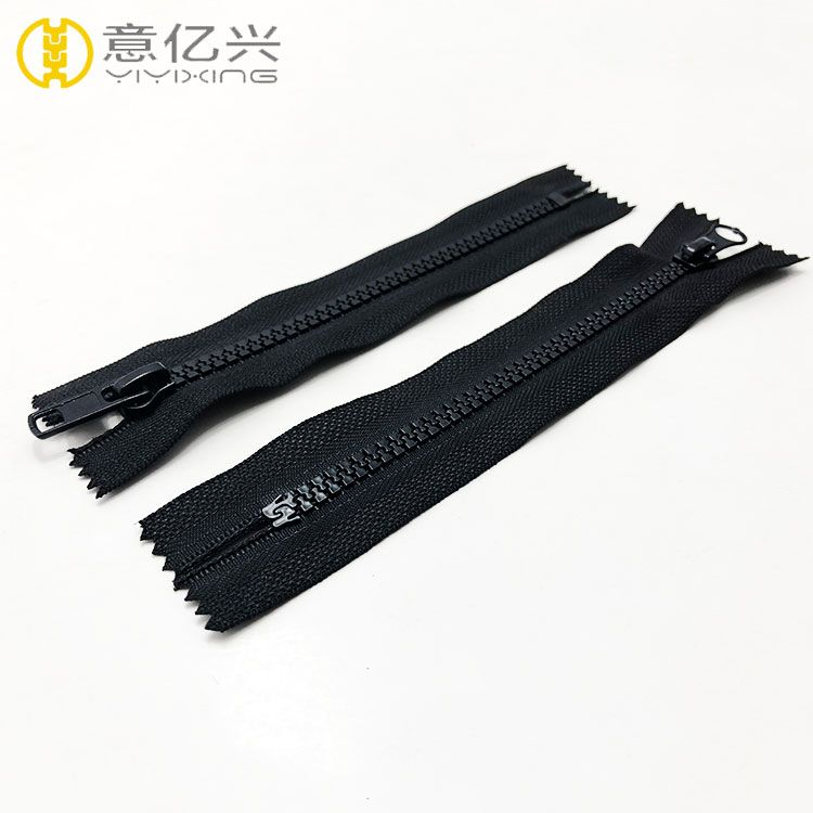 Factory directly chunky finished plastic zips resin zipper