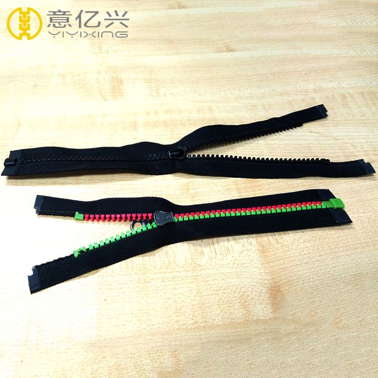 #5 fashion open end waterproof resin plastic zipper