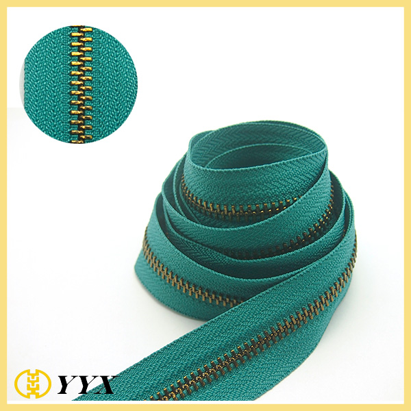 High Quality Hot Selling Different Size Long Chain Metal Zipper Roll