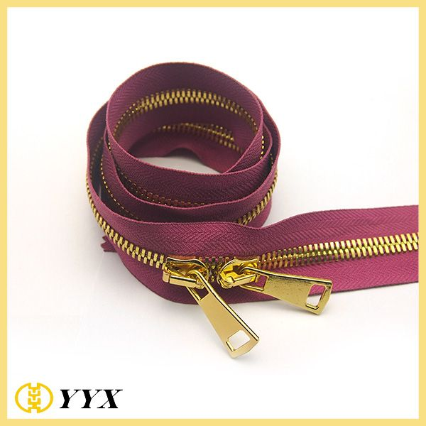 5# long chain metal zipper for wholesale & gold metal zipper