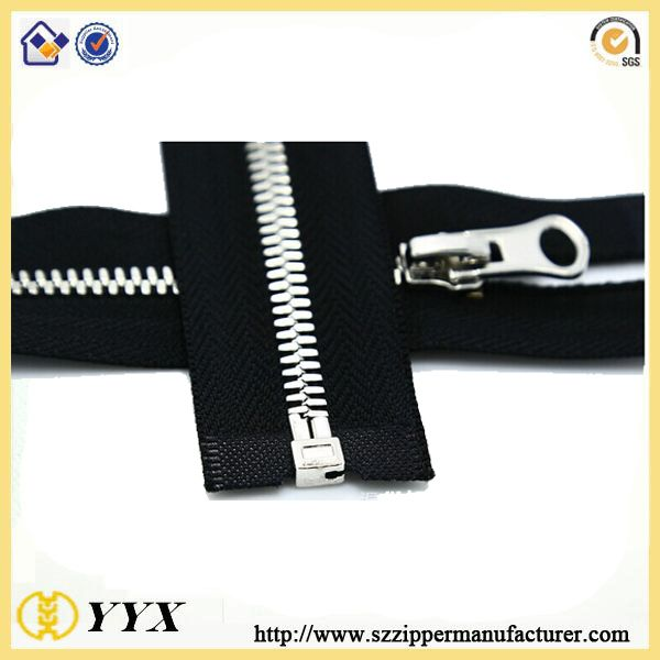 High quality silver teeth #10 metal zipper