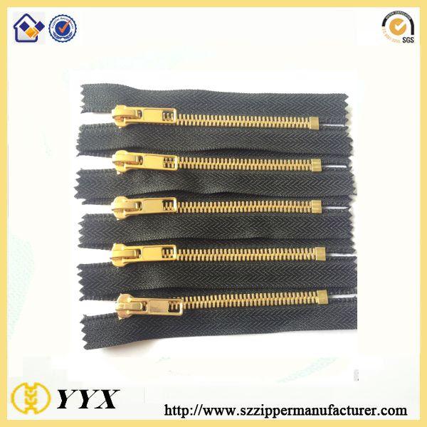5# Metal zipper gold teeth