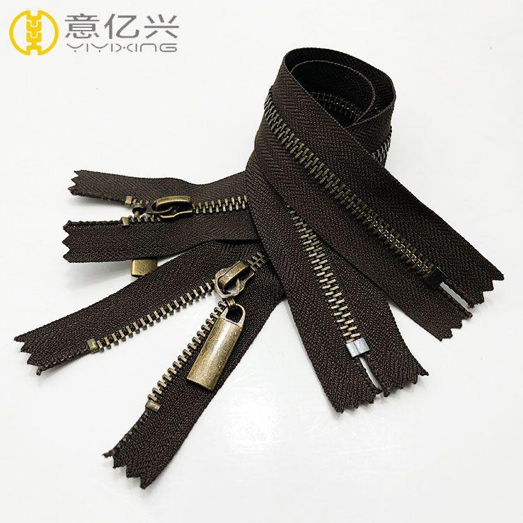 Metal Antique Brass Zipper for Clothing