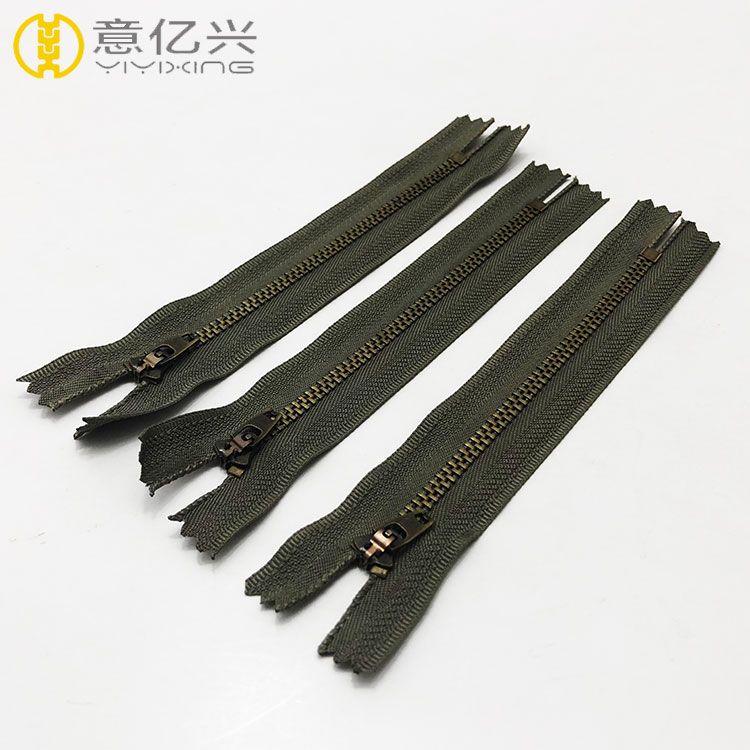 Wholesale 4.5 YG Metal Antique Brass Zipper