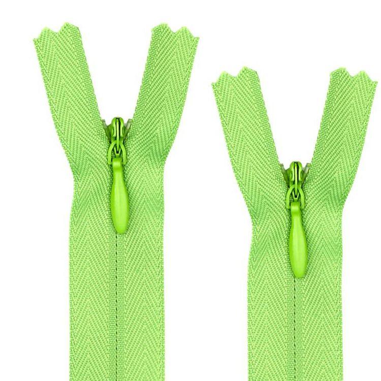 Zipper factory wholesale long chain nylon invisible zipper 60cm
