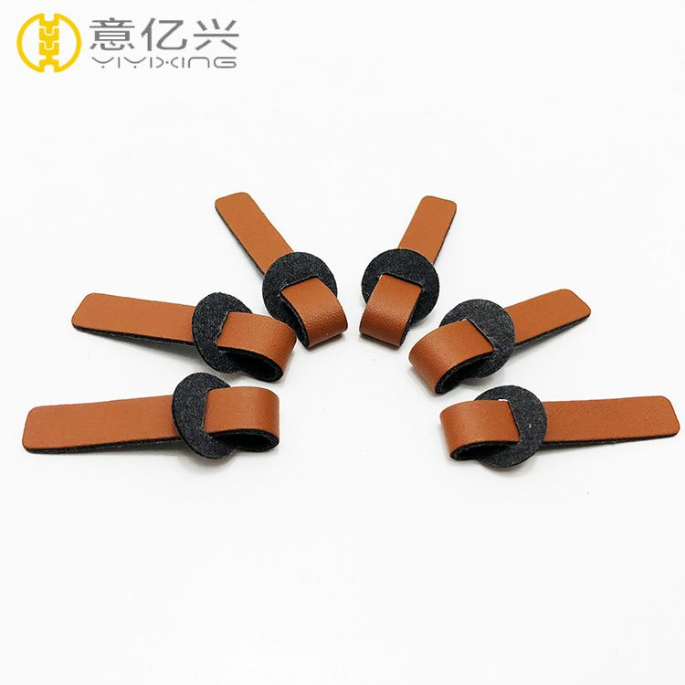 High quality synthetic suede leather pulls for zipper pulls