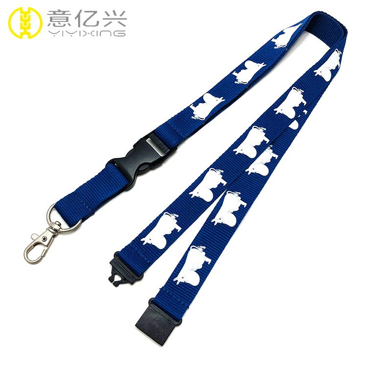 Cheap polyester silkscreen printing logo lanyards for sale