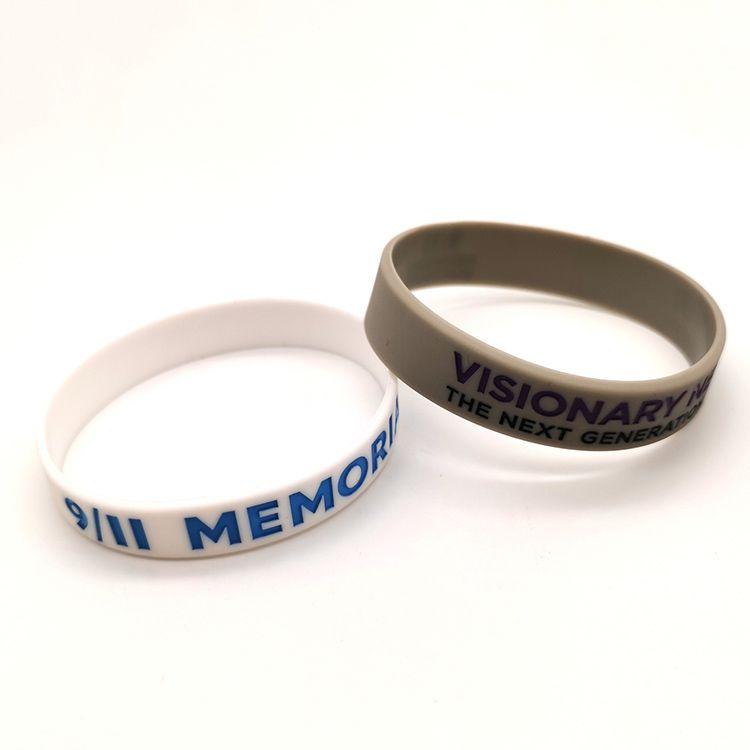 Silicone wristband bracelet