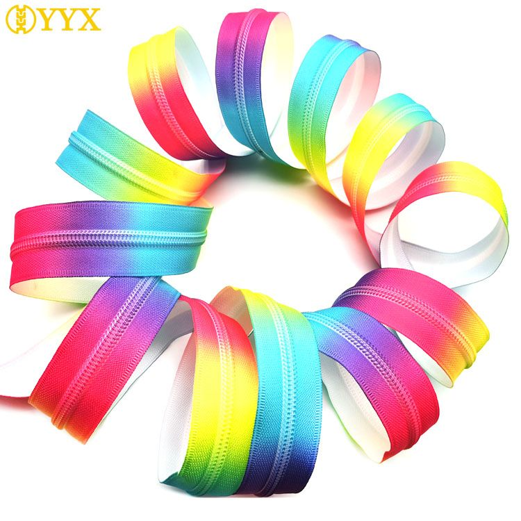 Color zipper_rainbow zipper wholesale supply